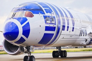 All Nippon Airways' (ANA) Star Wars planes.