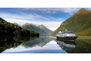 Azamara Journey in a tranquil New Zealand sound.