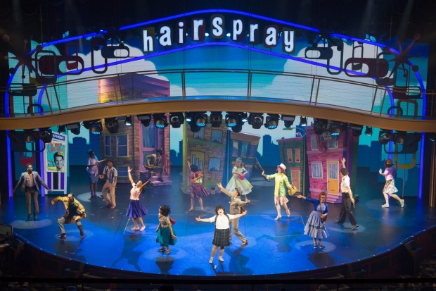 The musical Hairspray is performed on board.