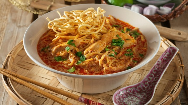 Khao soi, a coconut and curry flavoured noodle dish.