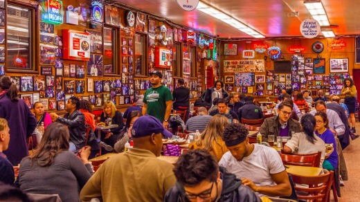 Katz's Deli on the Lower East Side.