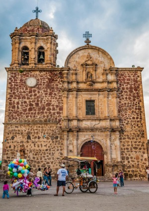 A cathedral in the town of Tequila, Jalisco, Mexico.