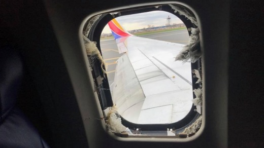 Passenger Marty Martinez filmed a Facebook Live video on board a Southwest Airlines flight that made an emergency ...