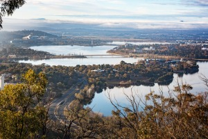 Morning Aerial view of Canberra Scenic aerial image of Canberra. Photo: iStock