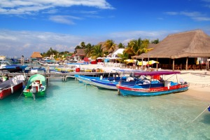 In the port at Isla Mujeres island.