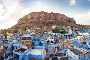 Blue City and Mehrangarh Fort in Jodhpur.