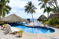 The pool at Club Raro Resort.
