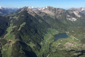 Switzerland looks even more beautiful from above.