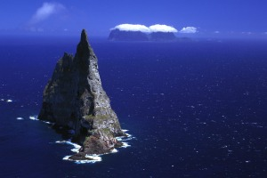 Ball's Pyramid emerges from the ocean just near Lord Howe Island.