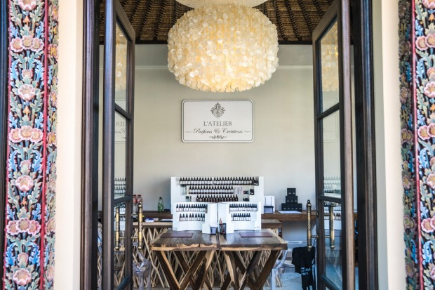 The L'Atelier Parfums et Creations' perfume-making workshop at Ayana Resort and Spa, Bali.