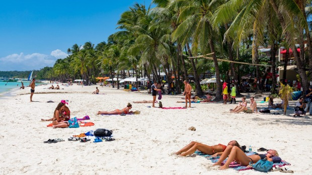 Get tanned in Boracay Island