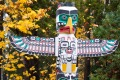 Totem poles at Stanley Park, British Columbia, Canada.