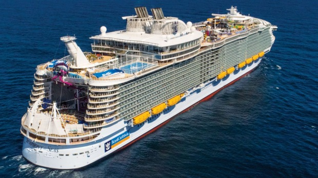 Symphony of the Seas, the world's largest cruise ship.