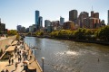 Melbourne's 'upside down' river, the Yarra.