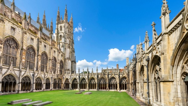 Canterbury Cathedral, Canterbury, Kent, England. One of the oldest cathedrals in England, founded in 597, and is the ...