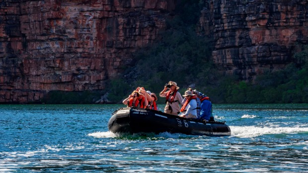 APT's Zodiac excursion into the King George River gorge to see the 80-metre King George Falls.