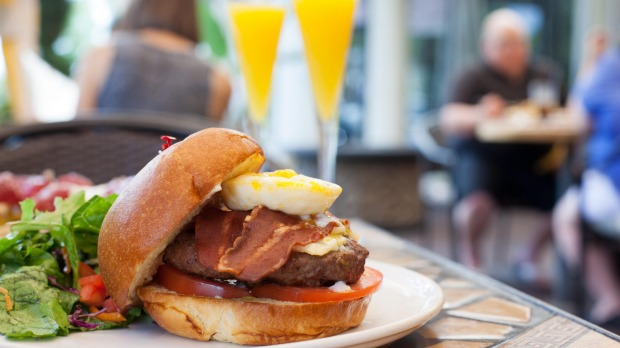 Mimosas and burgers for breakfast may not be such a good idea.