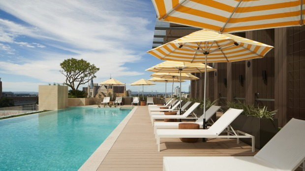 The pool at The Westin Perth.