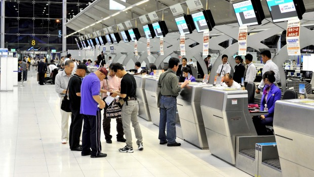 Bangkokg's Suvarnabhumi Airport. A passenger was charged extra after their name did not fit on to Thai Airways' online ...