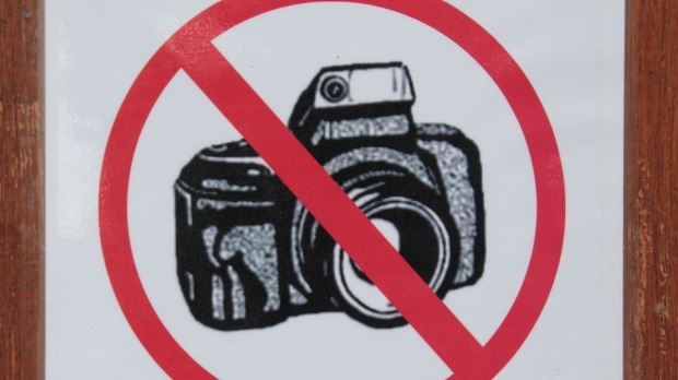 Stop and think before you snap: Photography might be banned.