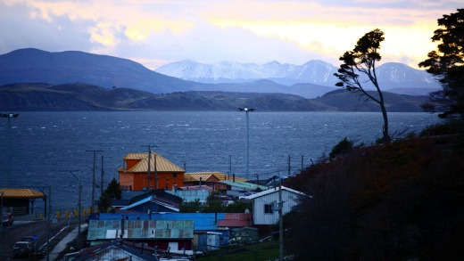The trek begins in deep beech forest at the end of a ridge overlooking Puerto Williams and, distantly, the Argentine ...