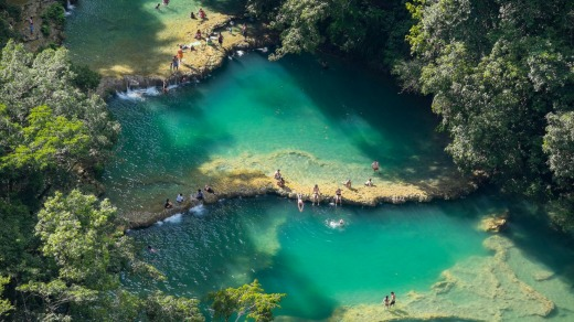 """Semuc Champey: """"It's a long, hard journey to get here but it's worth it."""""""
