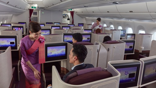 Service with a smile on Thai Airways.