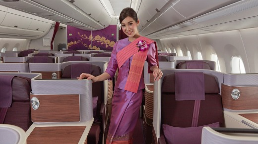 Thai Airways business class seats are roomy.