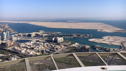 The view from the St Regis Abu Dhabi helipad.
