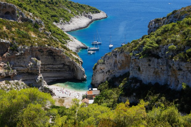 Stiniva, Croatia: You won't just stumble upon Stiniva. This secluded beach is nestled in a picture-perfect bay almost ...