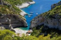 The famous beach of Stiniva on the island of Vis, a two-hour ferry ride from Split, Croatia.