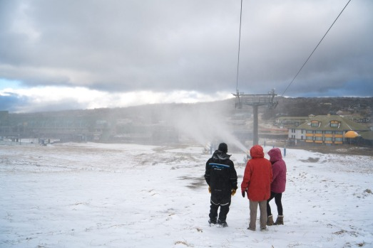 First snow falls at Perisher.