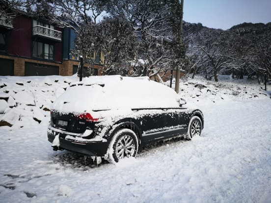 Snow at Mount Hotham.