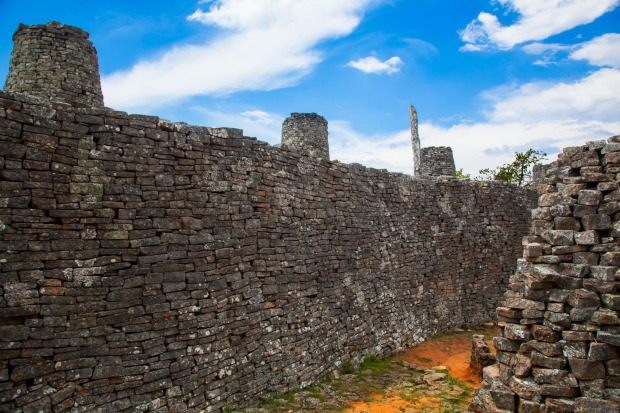 GREAT ZIMBABWE WALLS Royal palace, political capital and trading centre of the Shona people, Great Zimbabwe was enclosed ...