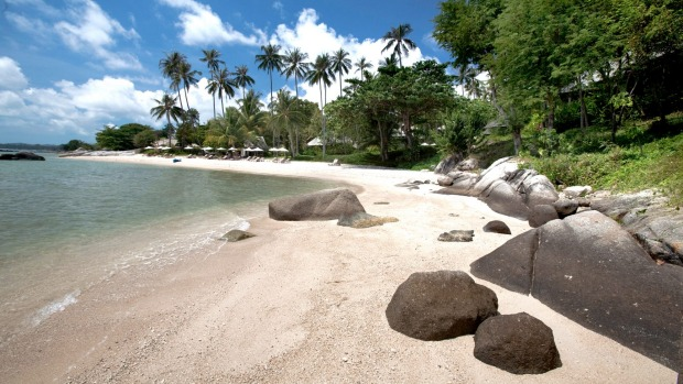 The beach at Kamalaya.