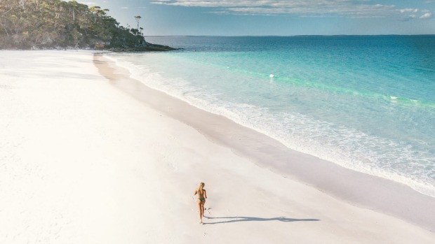 Uncrowded Blenheim Beach, Jervis Bay.