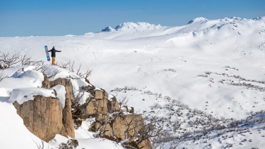 Perisher, the largest ski resort in the Southern Hemisphere, Australian Snowy Mountains, New South Wales.