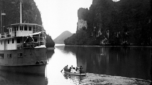 The original Emeraude paddle steamer in Ha Long Bay.