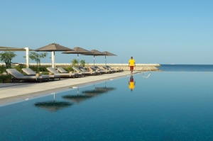A dip in one of the hotel's two pools is the perfect way to beat the Omani heat.