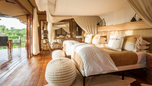 A suite at Mwiba Lodge.