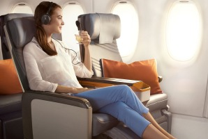 Premium economy on a Singapore Airlines A350.