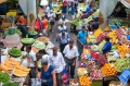 A market in Port Louis, the capital of Mauritius, whose melting-pot cuisine reflects its colourful history.