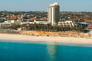 Scarborough Beach is a great place to relax.
