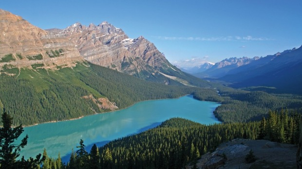 View from Portal Peak, Mount Thompson, Canada.