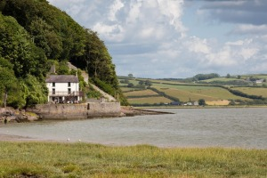 The Boathouse at Laugharne, the famous home of Dylan and Caitlin Thomas.