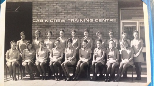 Flight attendants at the British Airways training centre.