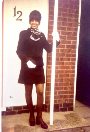 'The uniforms were short': Pamela Kamula, who worked as a flight attendant in the 1970s.