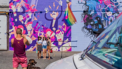 Street art tells the story behind the different neighbourhoods in Vancouver.
