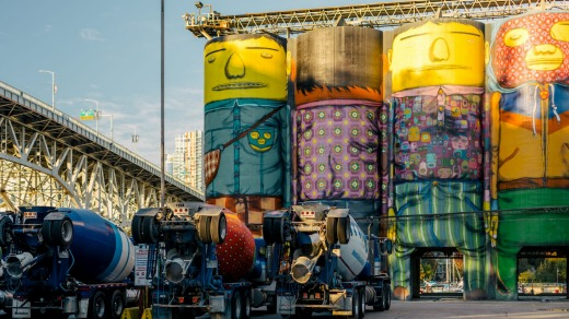 Giants by Os Gemeos on Granville Island.