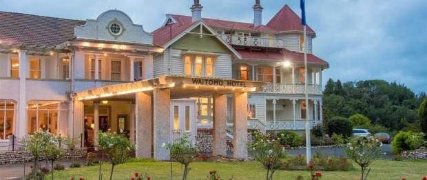 Waitomo Caves Hotel, New Zealand: Built on the site of a former British fort, this hotel near the glowworm-lit Waitomo ...